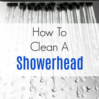 Vinegar To Clean A Showerhead