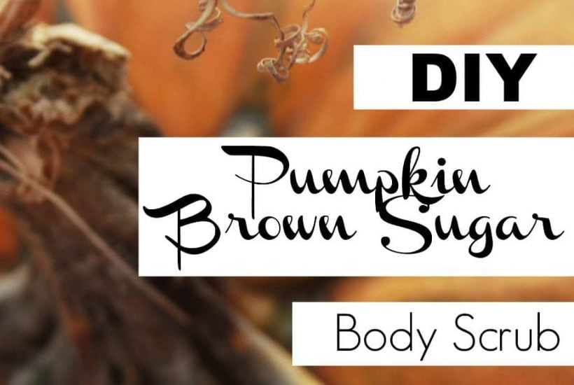 DIY a Pumpkin Body Scrub made with natural ingredients. Make your own autumn inspired spa treatment at home with this non-toxic recipe.