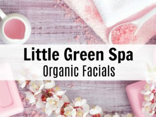 spa facial ingredients on wooden background