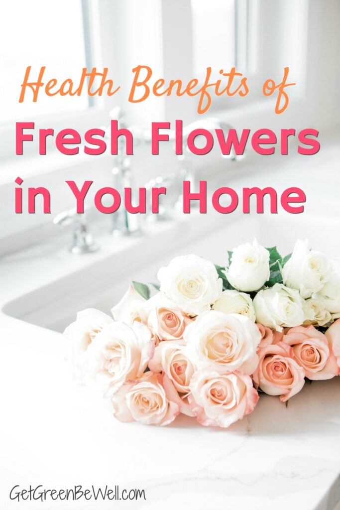 fresh cut roses in farmhouse sink