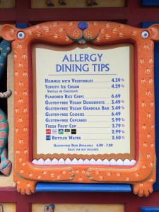 Allergy-Friendly Foods at Walt Disney World at The Gardens Kiosk