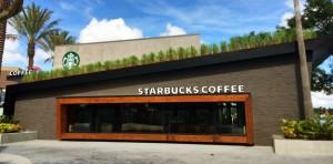 Green Design at Downtown Disney's Starbucks in Orlando
