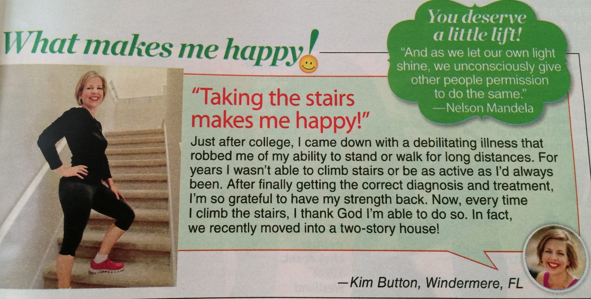 Kim Button in Womans World Magazine