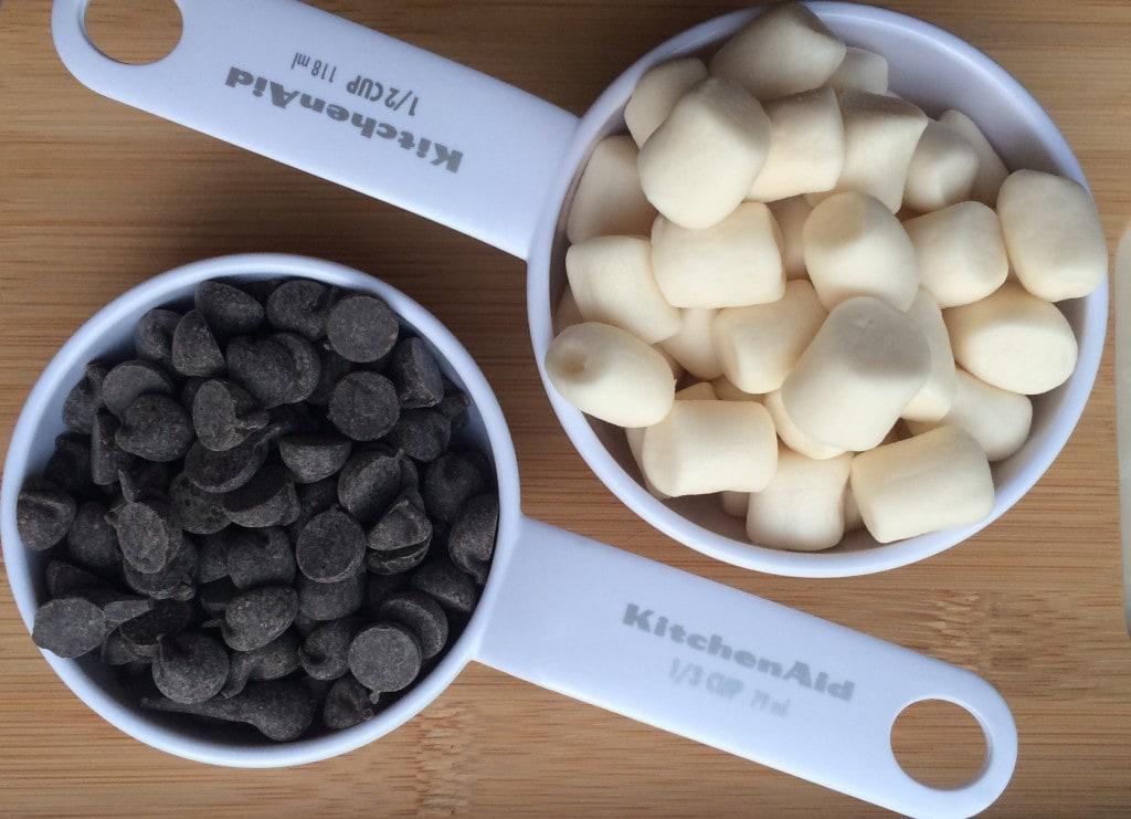 measured ingredients marshmallows smores recipe popcorn