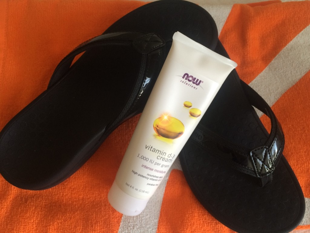Flip Flops and Sun Care Cream
