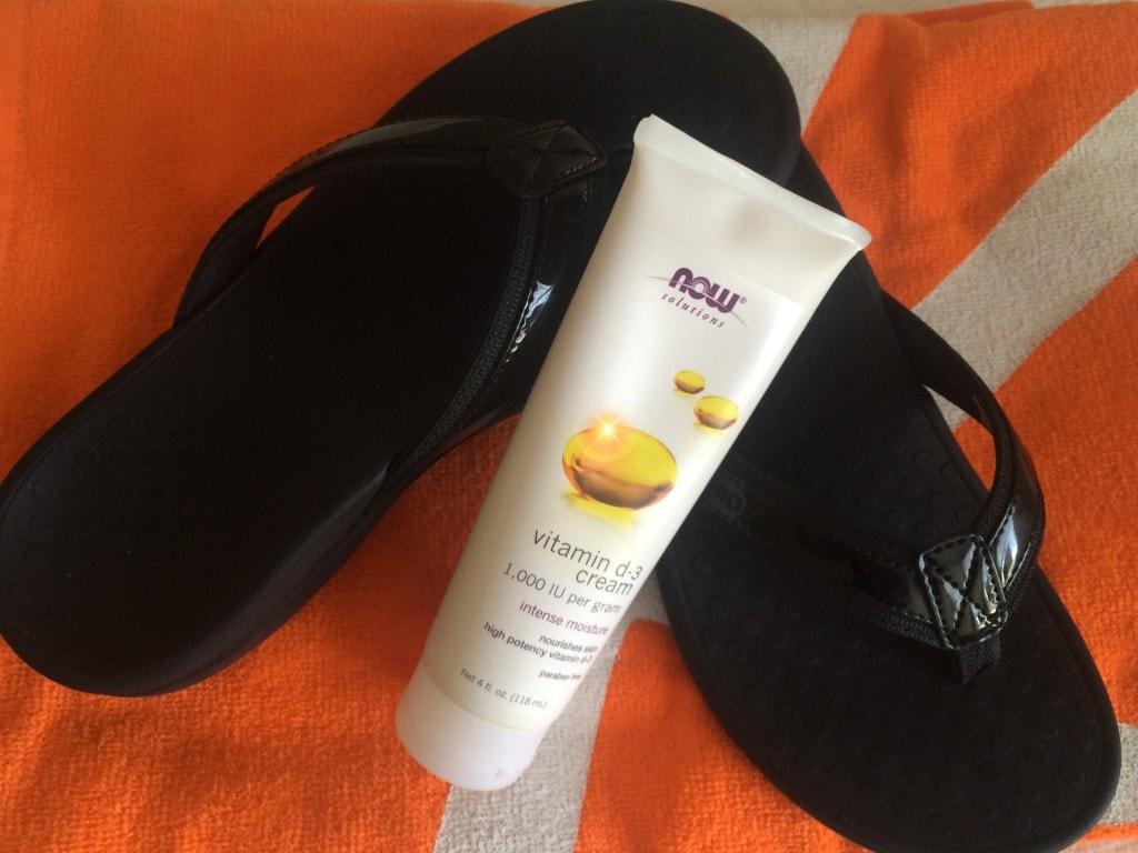 Flip Flops and Sun Care Cream