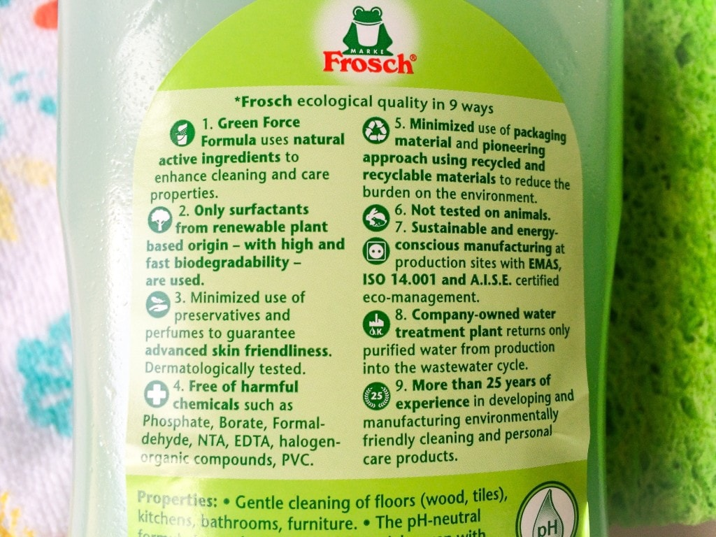 Frosch USA Nine Points Green Cleaner