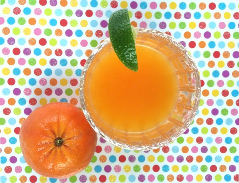 Tangerine Juice Ginn Fizz