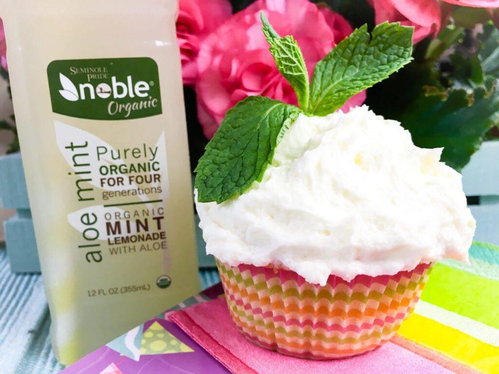 Lemonade Mint Cupcakes with Lemon Butter Frosting Recipe
