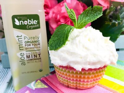 Lemonade Mint Cupcakes with Lemon Butter Frosting Recipe