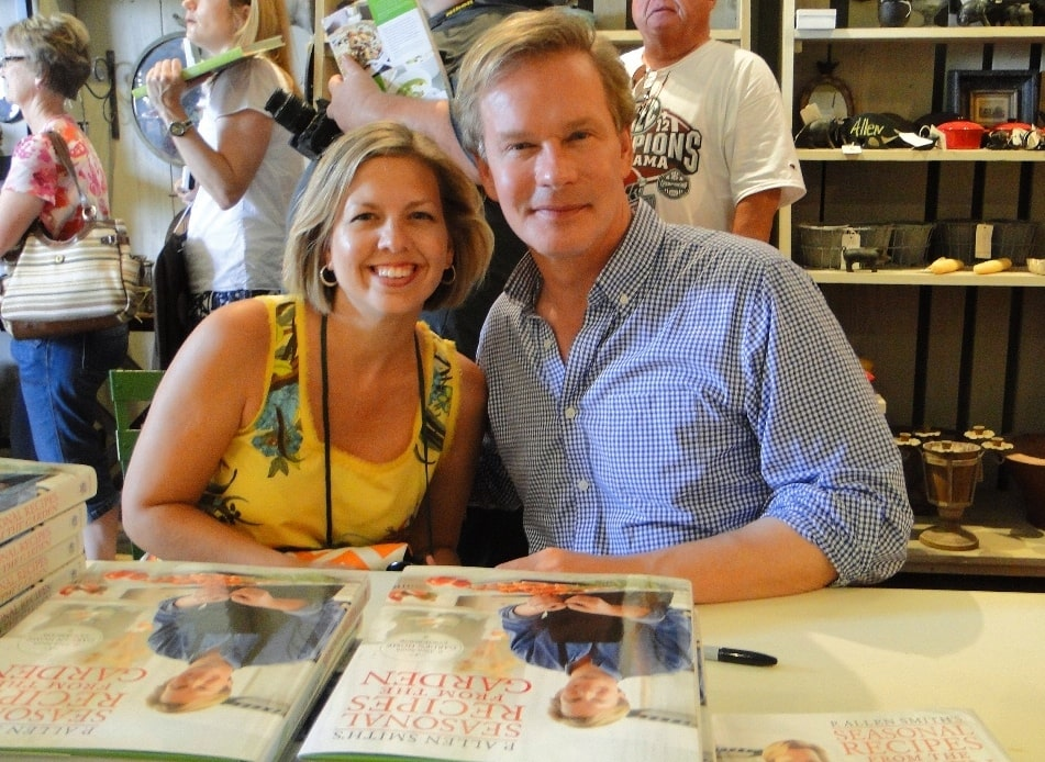 Kim and P. Allen Smith at Book Signing on Moss Mountain Farm in Arkansas