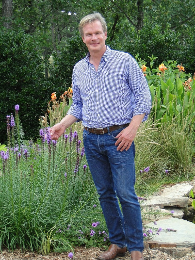P. Allen Smith in His Garden At Moss Mountain Farm Arkansas
