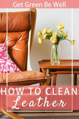 how to clean leather coconut oil natural non-toxic chemical free