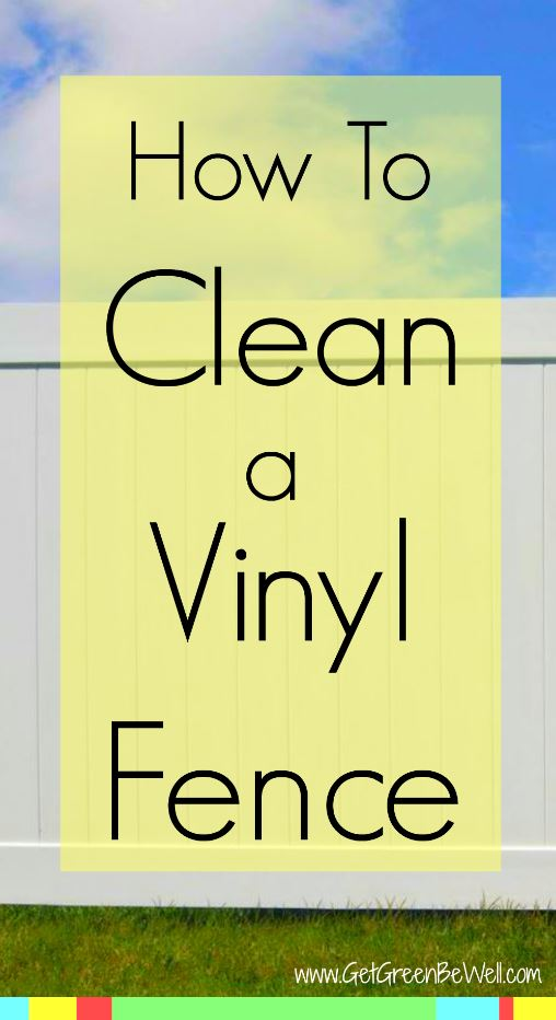 How to easily clean a white vinyl fence. The one natural product that will remove dirt, mold, mildew and grime from your backyard fencing. Try it right not and see how it works! You probably already have this ingredient in your kitchen!