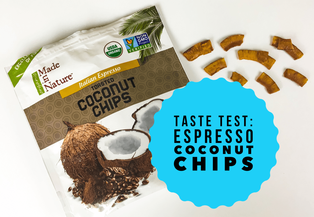 Real Review Italian Espresso Flavored Coconut Chips Made in Nature Snacks