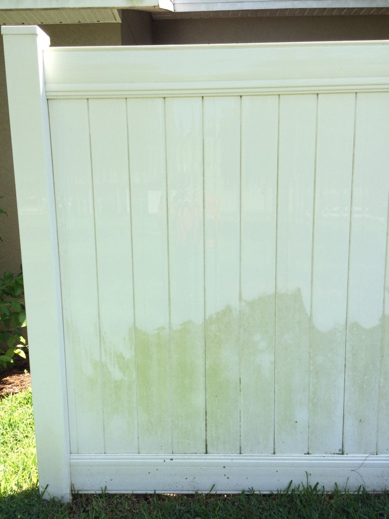 How to Clean a Plastic White Vinyl Fence without chemicals using vinegar