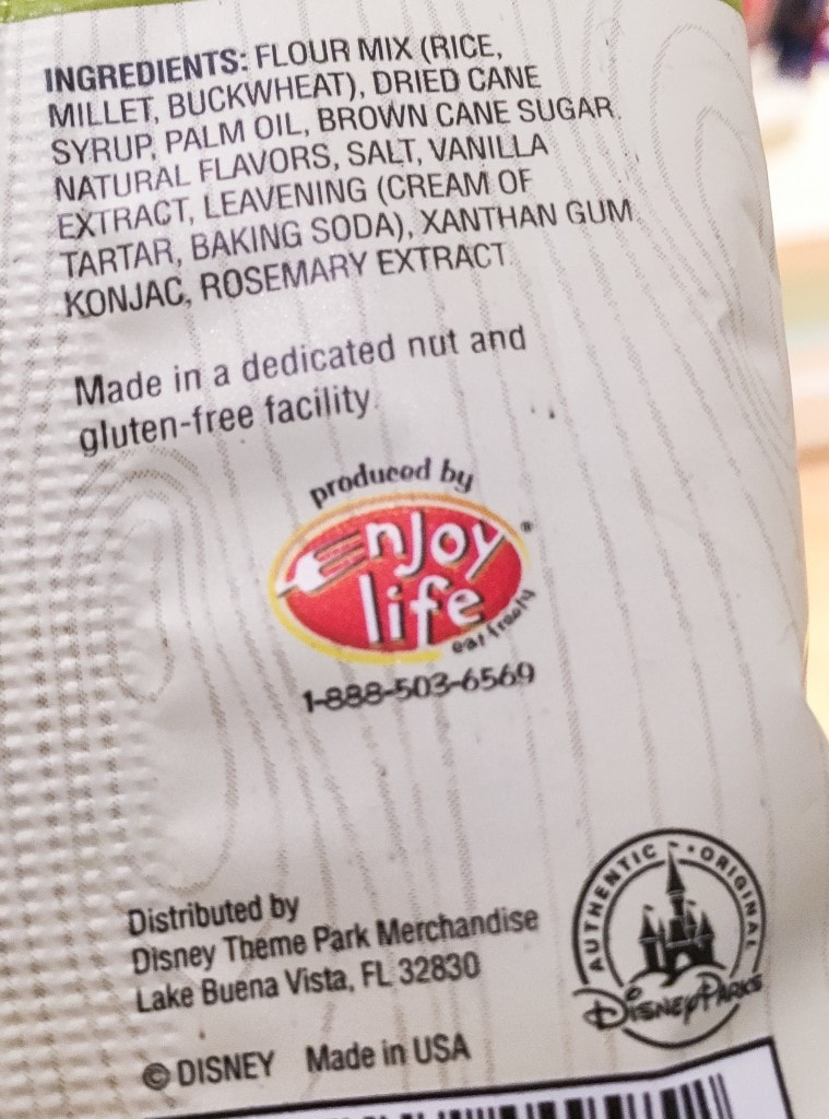 Enjoy Life Allergy Friendly Snacks Walt Disney World Ingredient List Characters