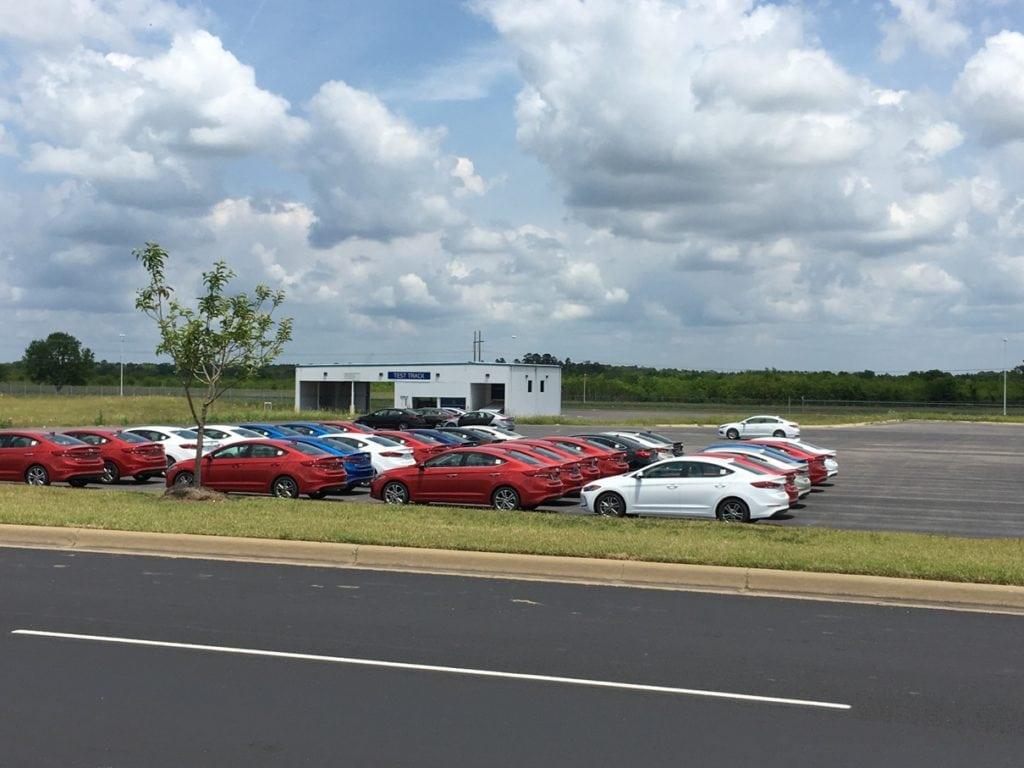 Hyundai Elantra Manufacturing Plant Montgomery Alabama Test Track