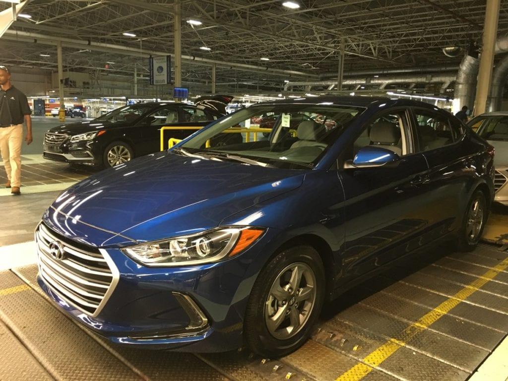 Hyundai Elantra Manufacturing Plant Montgomery Alabama Assembly Line