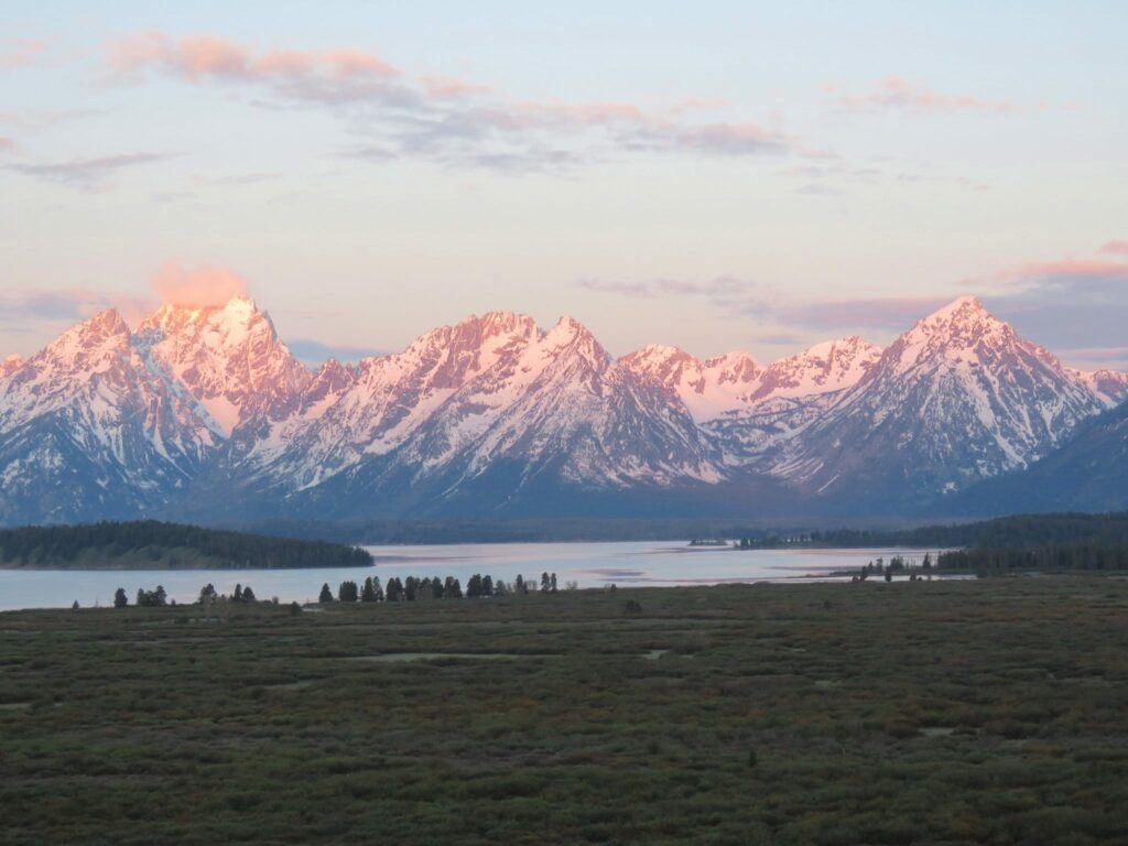 Grand Teton National Park Wyoming Sunset Mountain Range
