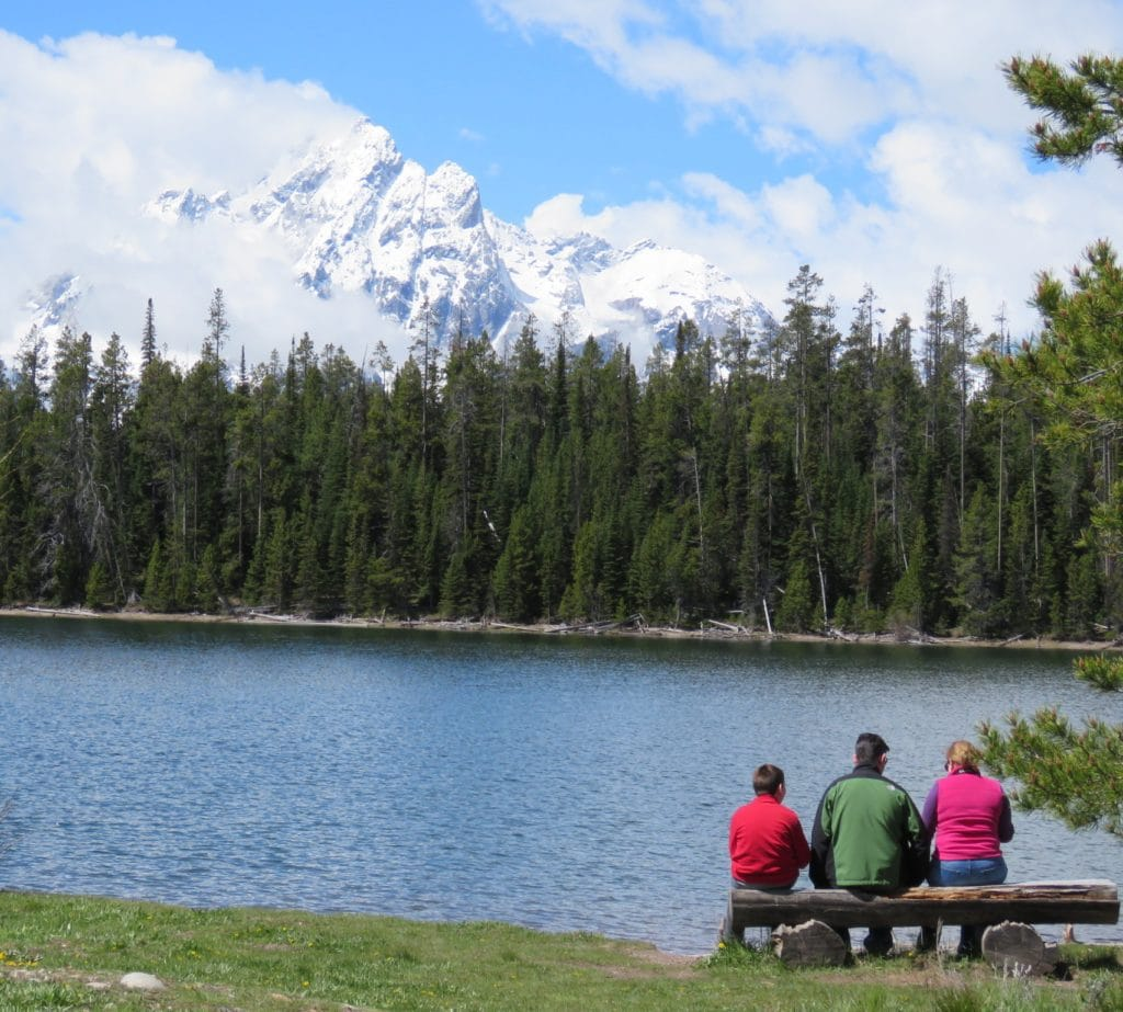 Family Picnic Grand Teton National Park Wyoming Mountain Range