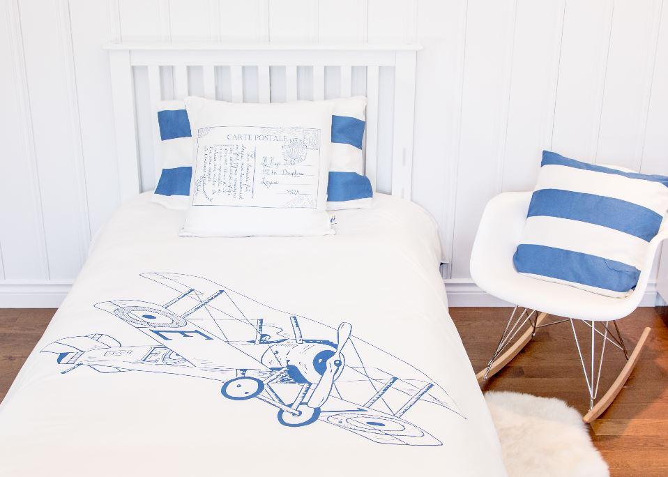 Atelier Edele BiPlane Vintage Airplane Organic Duvet