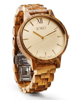 Luxury Womens Wood Watch by JORD in Zebrawood