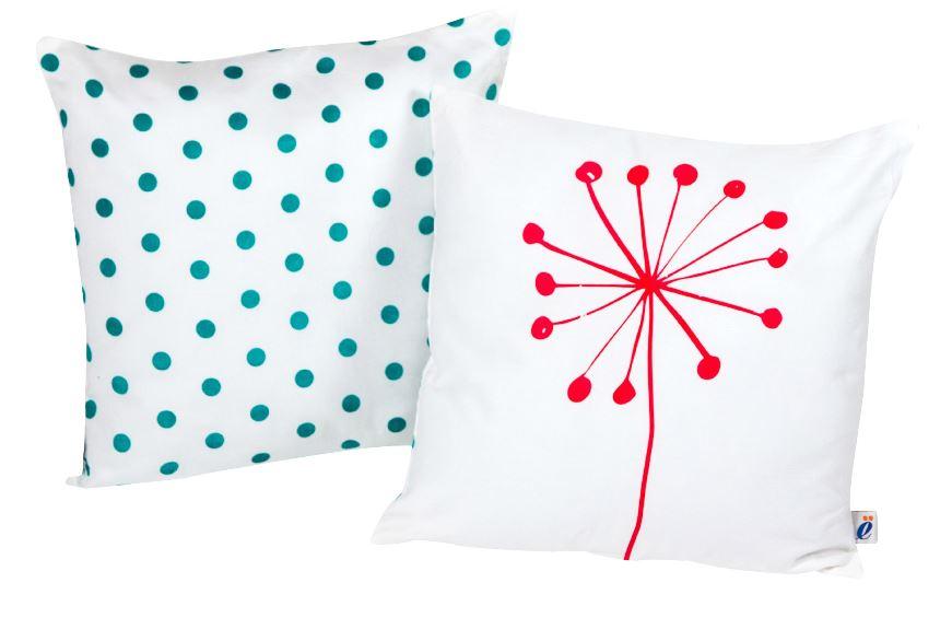 atelier edele tulip polka dot pillows organic cotton