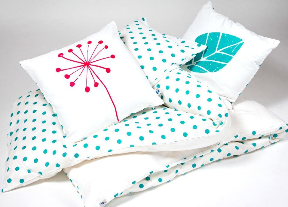 atelier edele tulip polka dot organic cotton kids duvet set cover