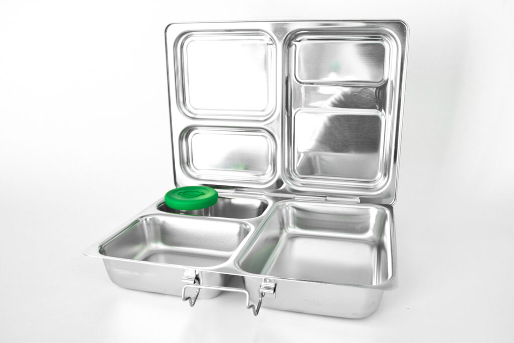 stainless steel lunchbox with compartments
