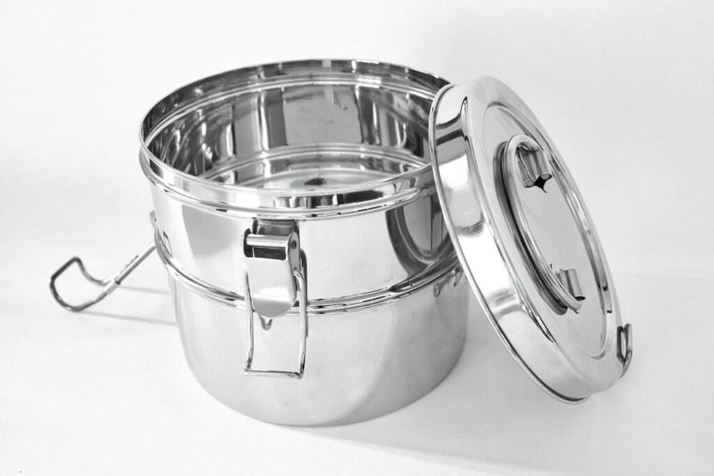 stainless steel tiffin lunch containers 2 tier to go ware