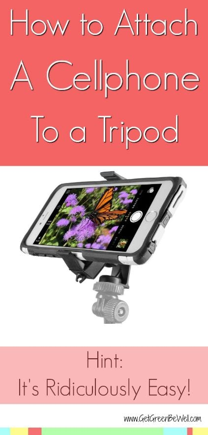 The easiest way to attach a phone to a tripod. Use it to take selfies or film video.