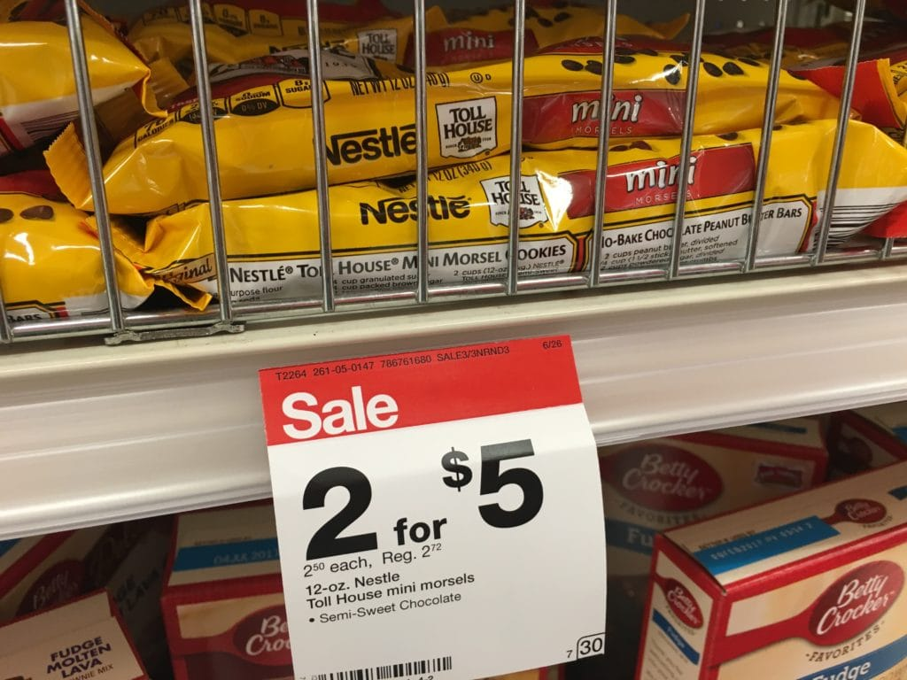 Nestle chocolate chips on sale at Target