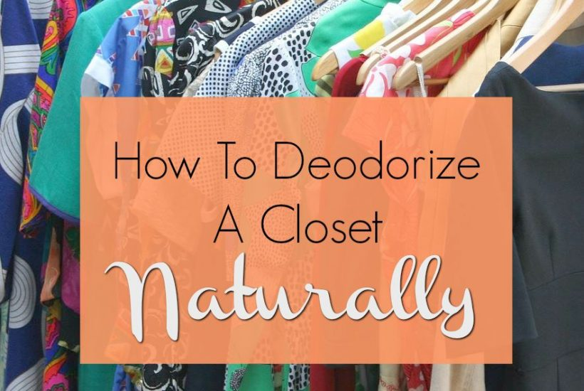 Best ways to deodorize a closet naturally. Tips to remove odors without masking with chemical fragrances.
