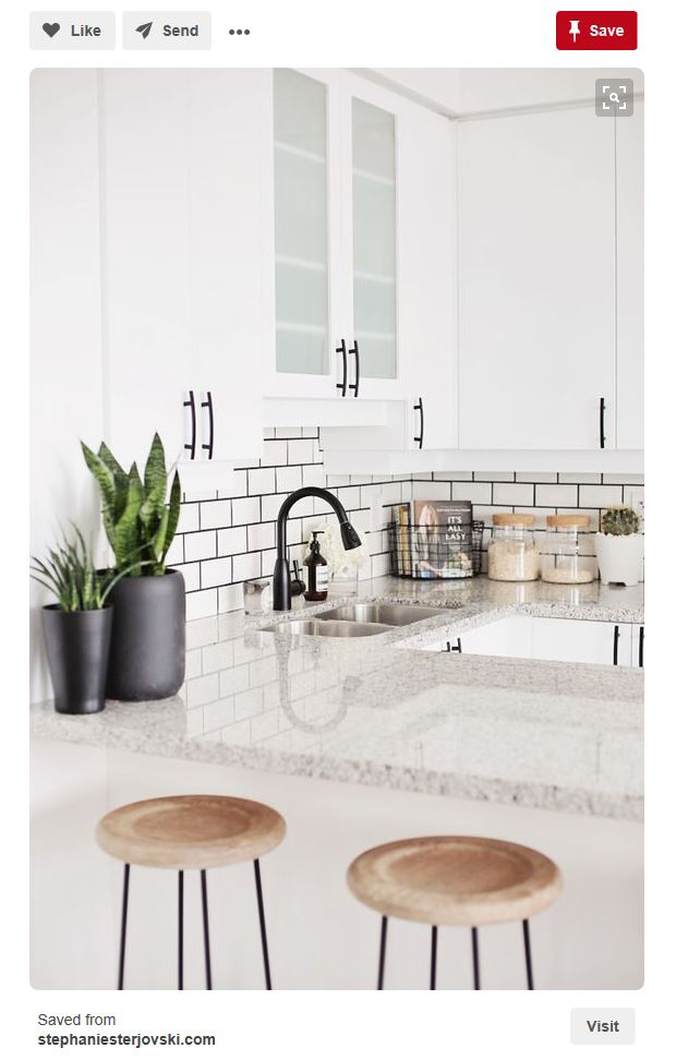 How to create an all white kitchen for a healthy home. Non-toxic ways to update your kitchen cabinets, countertops, backsplash and more.