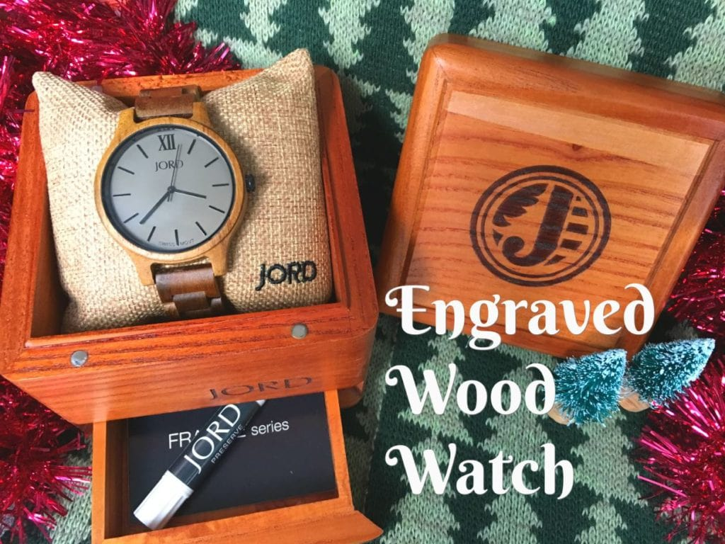 Watching engraving is the perfect gift! These wood watches from JORD are classic and timeless. Wood engraving makes them sentimental for a personalized gift that they will love!