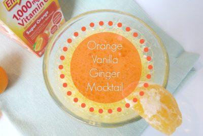 Orange Vanilla Ginger Mocktail Recipe