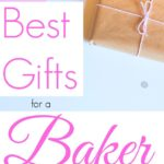 gift for a baker wrapped in brown paper