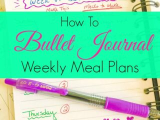Meal planning bullet journal