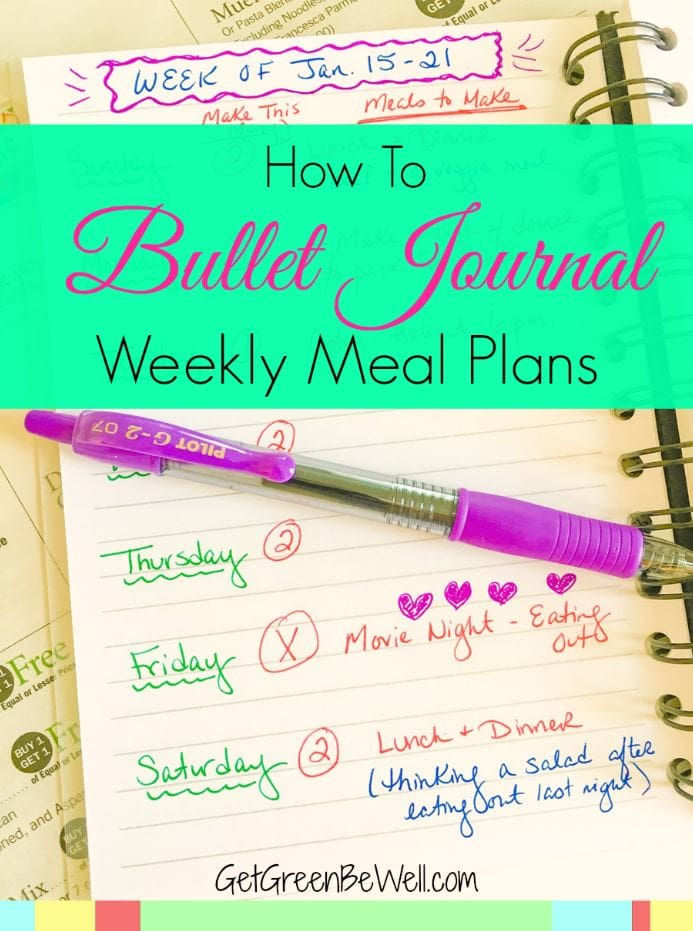 Meal planning every week used to be a chore and something I dreaded. Then I found bullet journaling my family's weekly meals and dinners. Wow! I love how this bullet journal method helps me stay organized and have fun! Click for some great ideas.