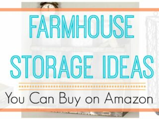 Farmhouse storage ideas with vintage charm and style. Modern rustic storage solutions for organizing your home. These top picks are what we recommend on Amazon, be sure to click to see how afforable they are!