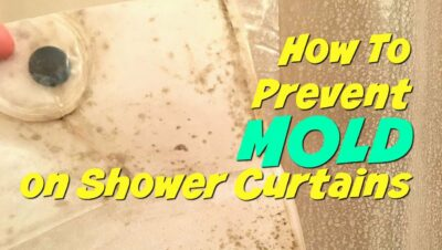 How to prevent that nasty mold growing on your shower curtain? Here are some super simple easy tips. All of them are free - or under $5! These hacks can help you clean your bathroom better today!