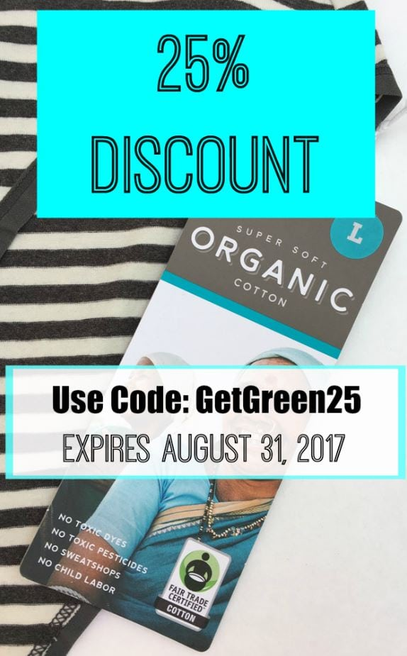 Save 25% on sustainable fashion at PACT Organic. This ethical fashion line is offering a discount for our readers until August 31, 2017. Lots of basics and separates that are super soft and comfortable.