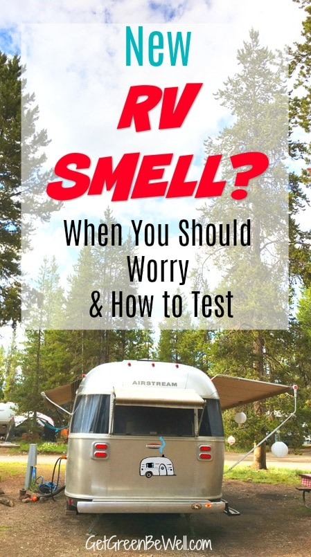 "Does your RV smell? Worried about the odor in your trailer? A ""new car"" smell can be damaging to your health. This simple at home test can tell you whether those smells are safe or not, and how to fix the problem. #RV #RVing #RVlife"