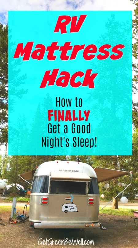 Super simple way to make your RV bed more comfortable! Why would you get a bad night's sleep again? Just try this trick to sleep better on your exisitng mattress for less!