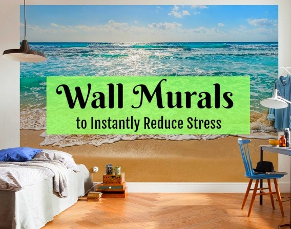 wall murals: nature scenes to reduce stress - get green be well