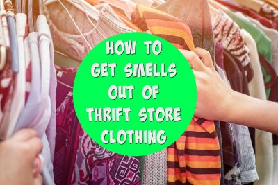 Love thrift store shopping, but hate the funky smells on the clothes? Me, too. If you like saving money on clothing by buying sustainable fashion via consignment stores, garage sales and thrifting sites, then you MUST know these tips to get the odor out of clothes. Bye-bye nasty fabric softener smells and musty odors. Hello fresh budget-friendly wardrobe!