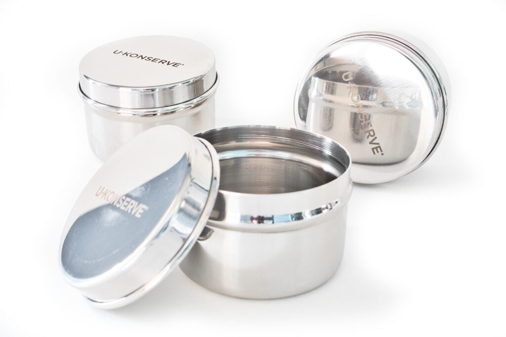 small stainless steel containers for dips and dressing