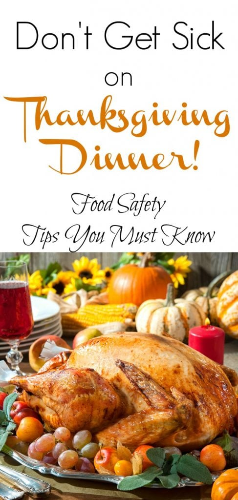 Food prepping tips for Thanksgiving. Don't get sick from foodborne illness this year. Smart ways to stay healthy during the holidays. #Thanksgiving #HealthyEating #HolidayEating #Turkey