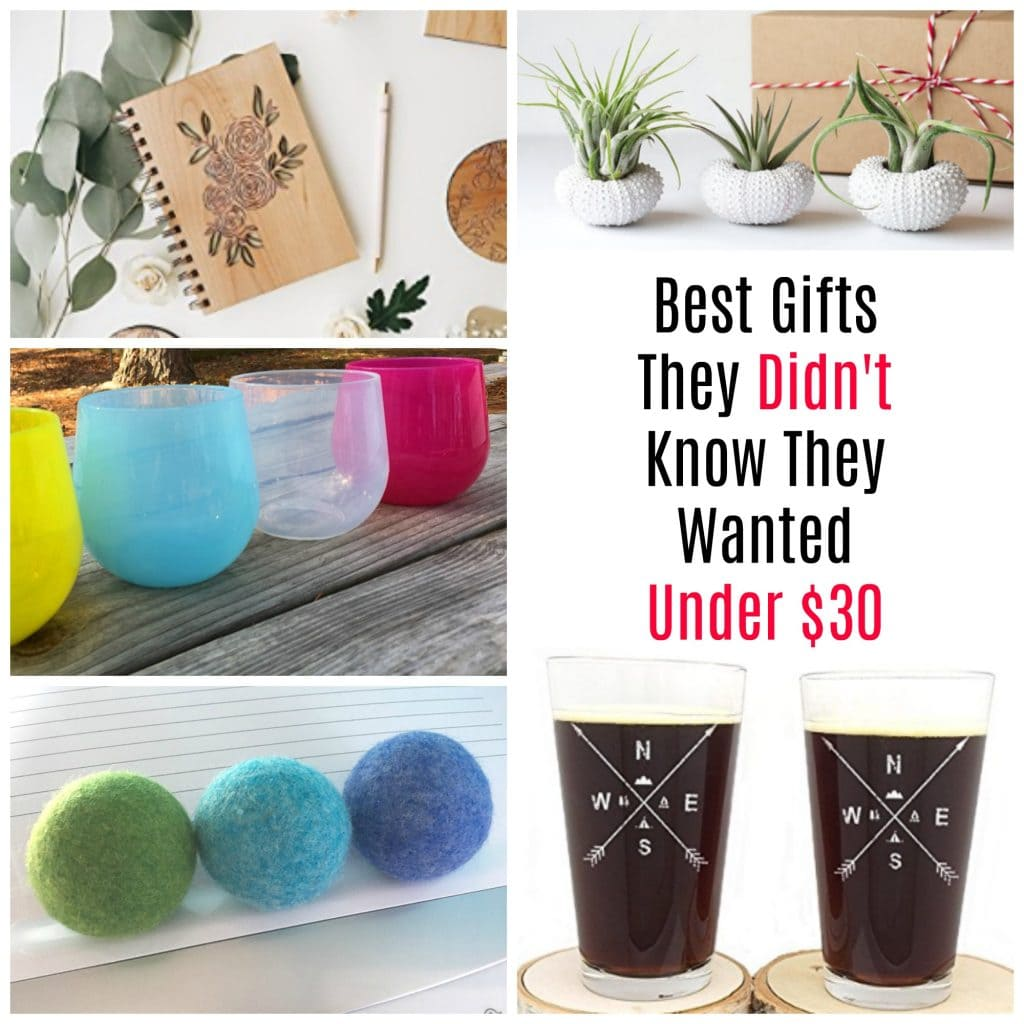 Gift guide under $30. Great gifts for the hard to shop for person.